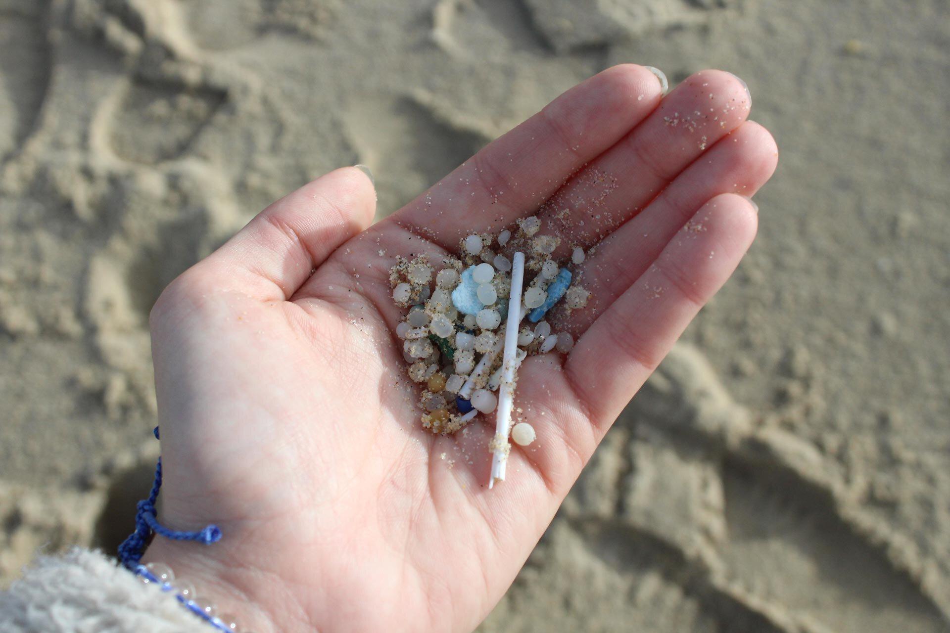 Une flopée de microbilles de plastique — Photo : Alexandra Jammet