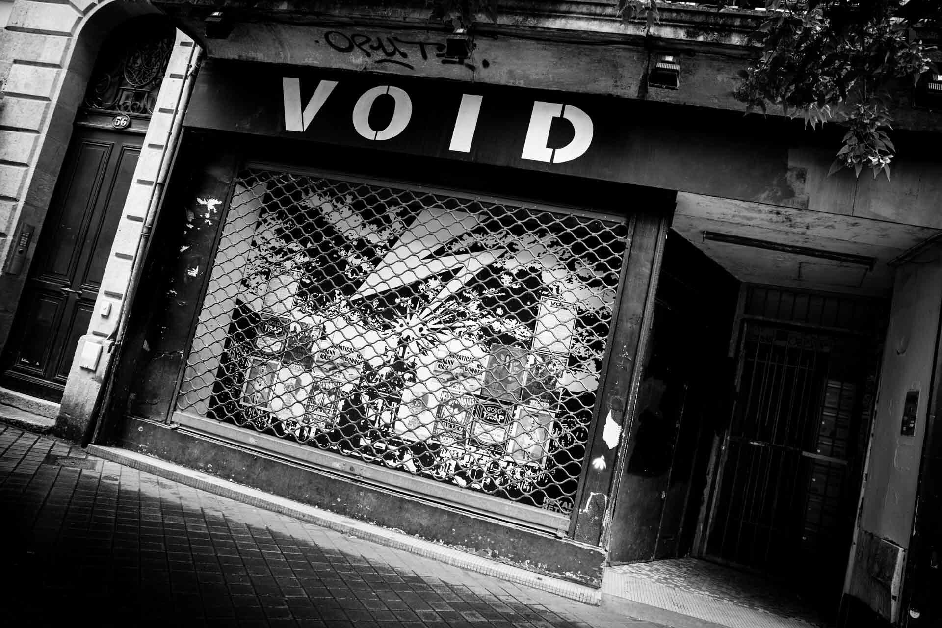 La devanture du VOID