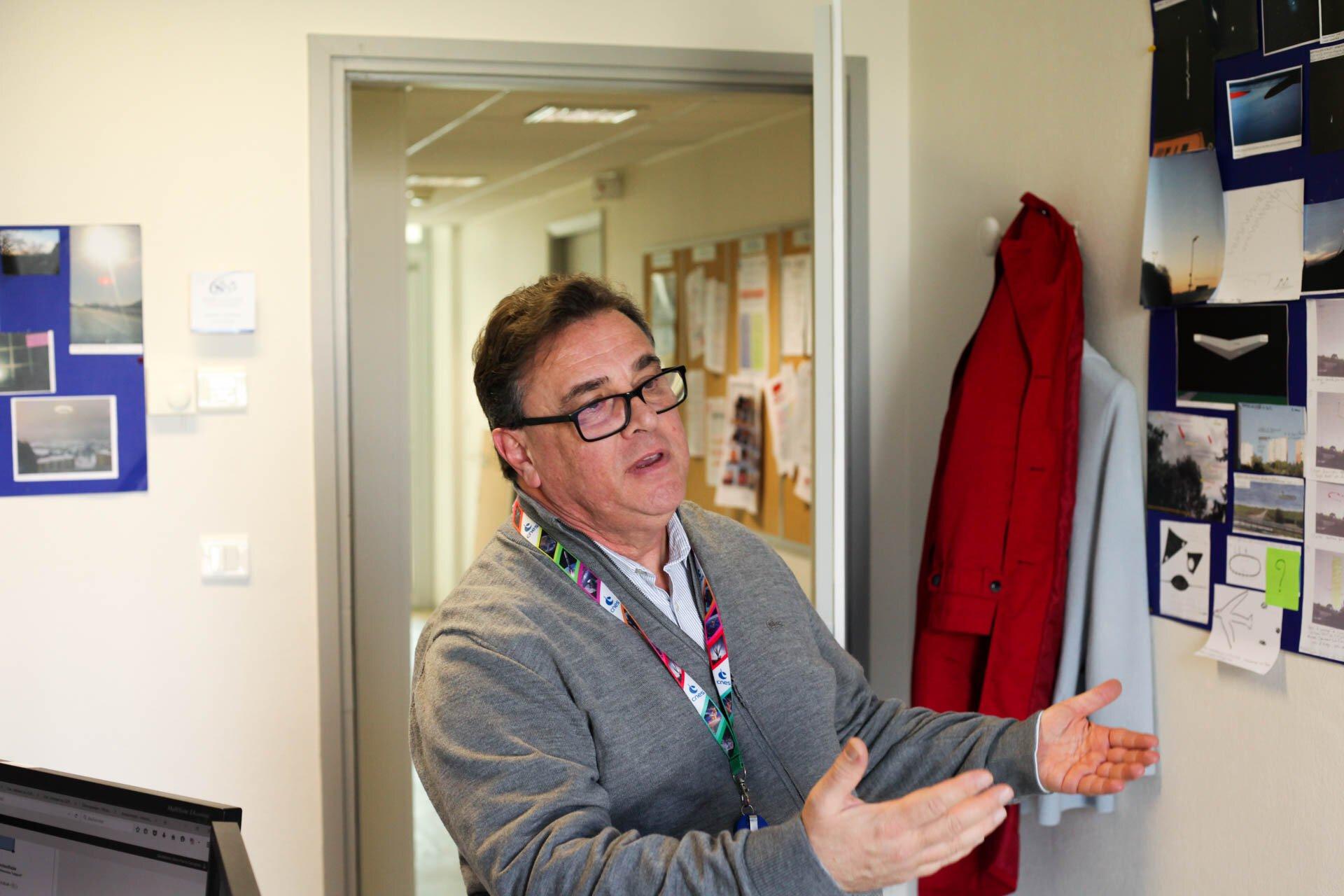 Roger Baldacchino, responsable du Geipan, dans son bureau.