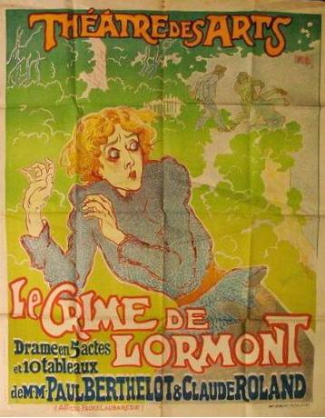 le crime de lormont, affiche de la pièce de théatre